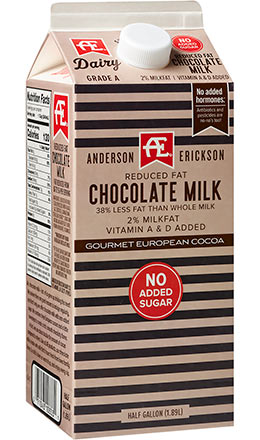 Reduced Fat Chocolate Milk with 0 Added Sugar