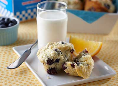 Blueberry muffins with AE Dairy Milk