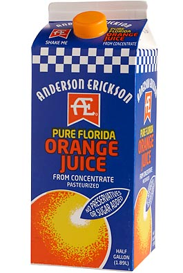 Regular Orange Juice Nutrition