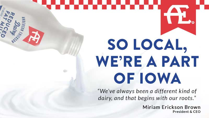 So local, we're a part of Iowa