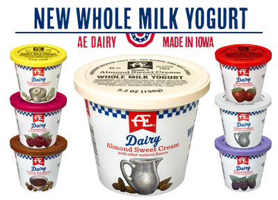 AE Dairy Whole Milk Yogurt in 7 creamy flavors