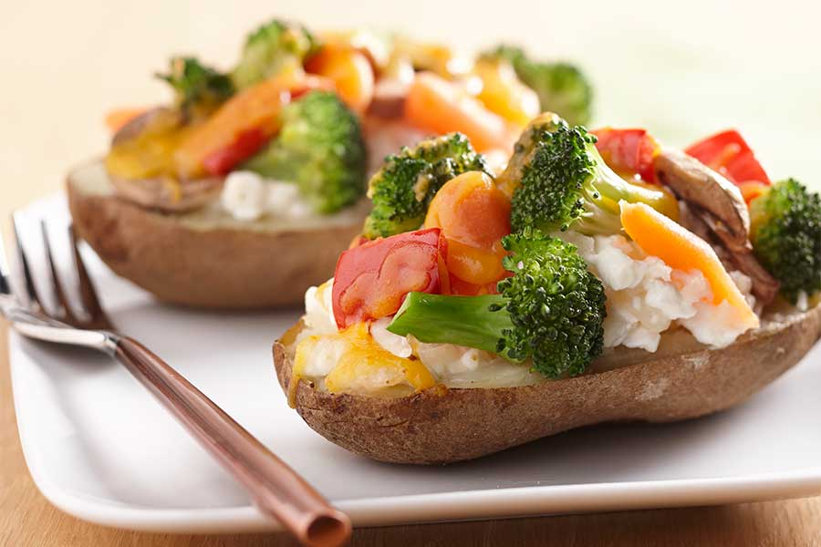 cottage and veggie twice baked ae dairy recipes rh aedairy com cottage cheese baked potato topping baked potato cottage cheese bacon