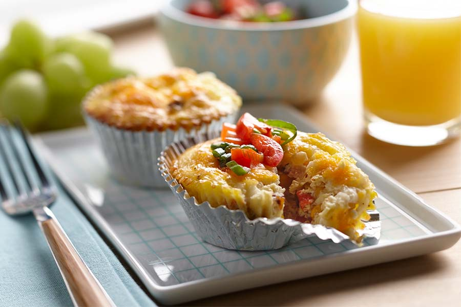 crustless cottage cheese quiches with bacon corn and cheddar ae rh aedairy com healthy crustless quiche with cottage cheese crustless quiche with cottage cheese recipe