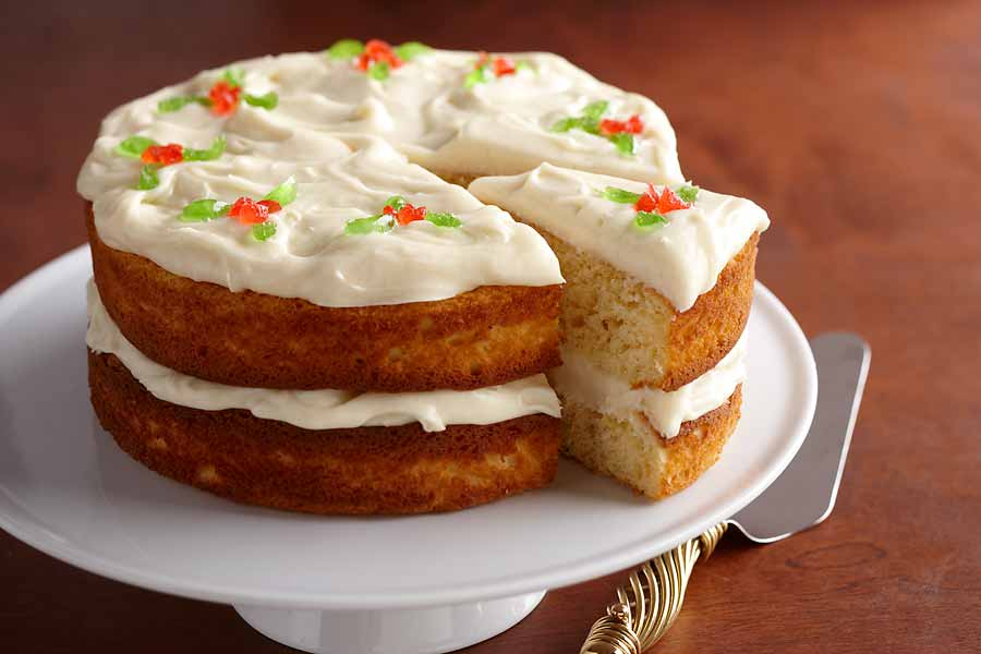 ... Nog Cake with White Chocolate Sour Cream Frosting - AE Dairy Recipes