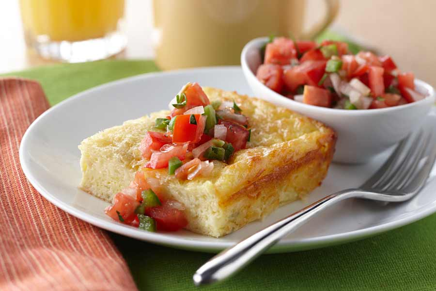 green chili egg bake ae dairy recipes rh aedairy com egg casserole with cottage cheese egg casserole with cottage cheese